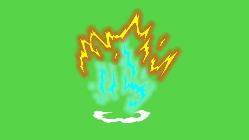 绿幕视频素材火气