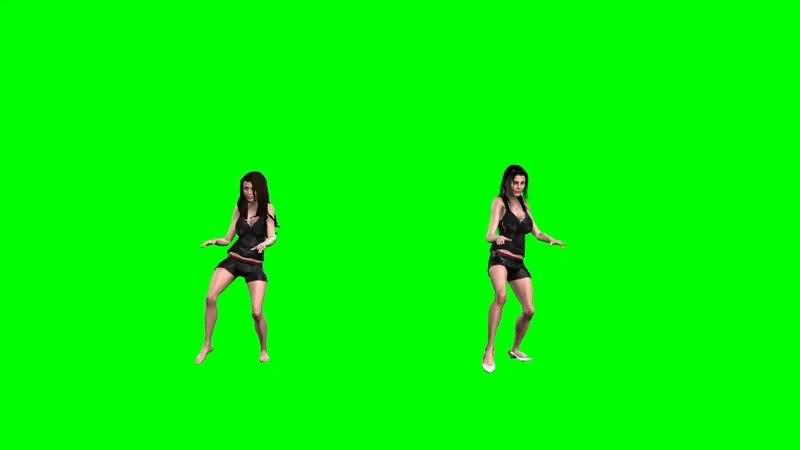 绿幕视频素材跳舞女子
