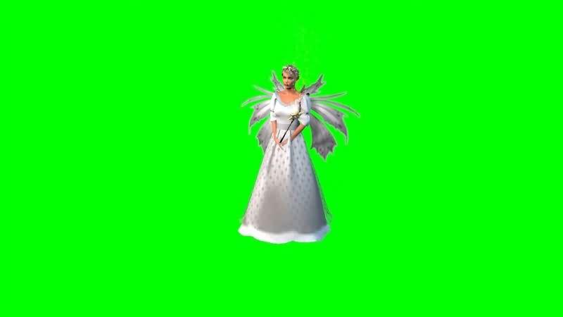 绿幕视频素材仙女