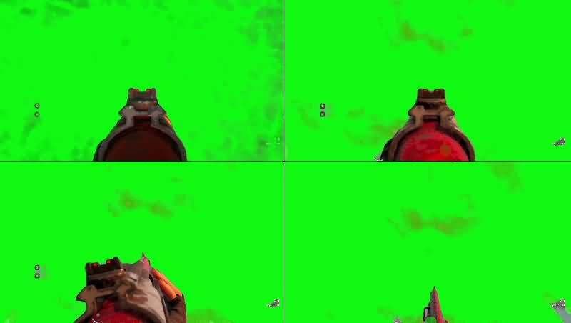 绿幕视频素材吃鸡游戏射击
