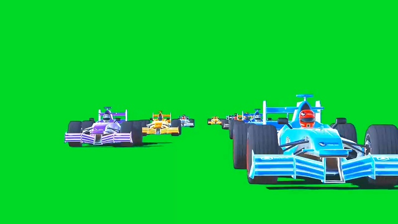 绿幕视频素材F1赛车
