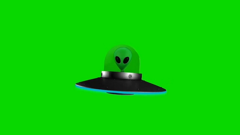 绿幕视频素材UFO飞碟