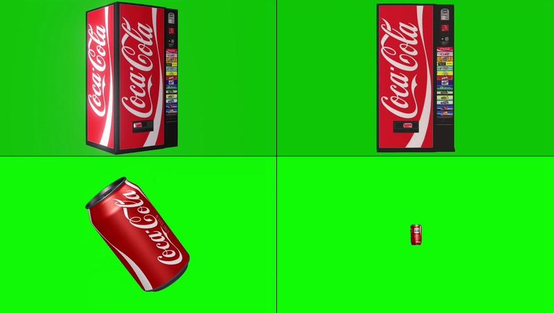 绿幕视频素材可乐贩卖机