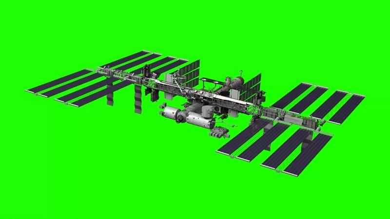 绿幕视频素材国际空间站