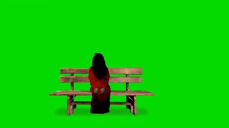 绿幕视频素材女鬼