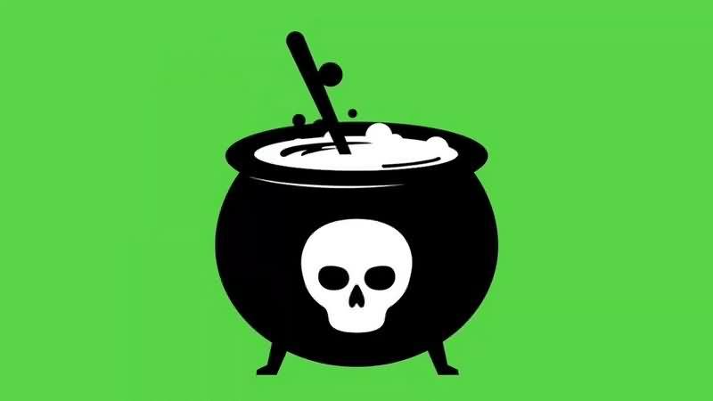 绿幕视频素材毒药锅