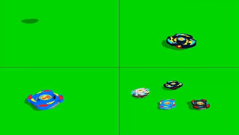 绿幕视频素材陀螺