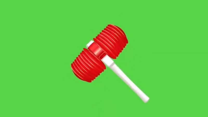 绿幕视频素材玩具锤