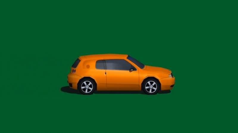绿幕视频素材小轿车
