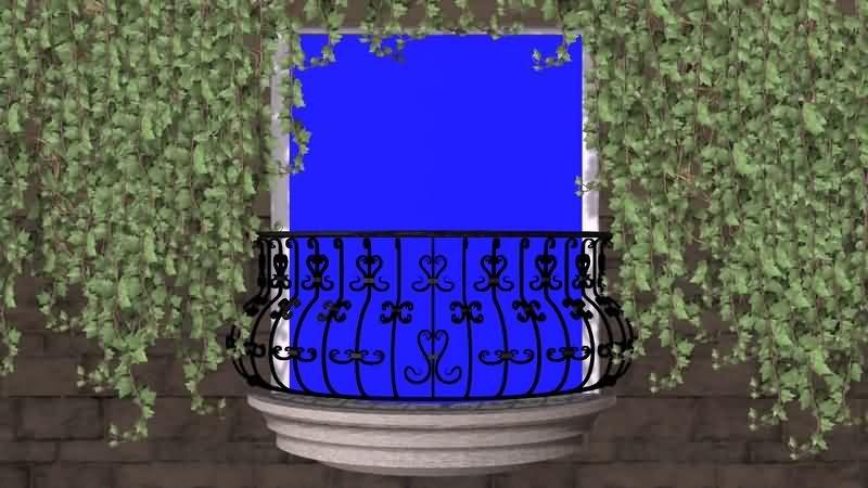 绿幕视频素材阳台