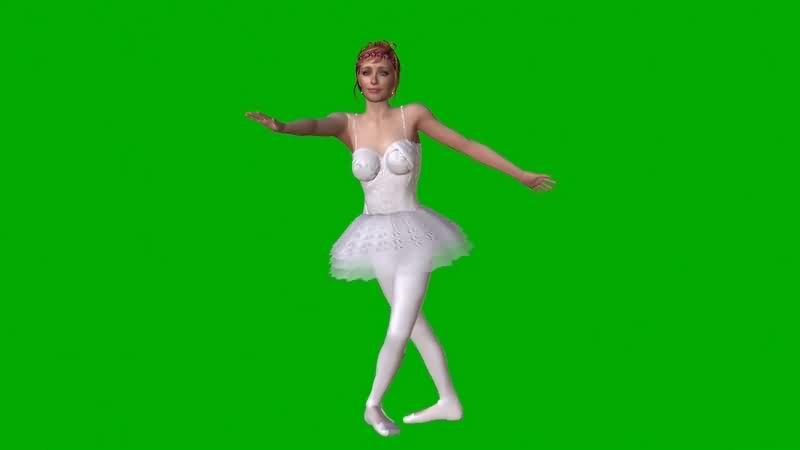 绿幕视频素材芭蕾舞