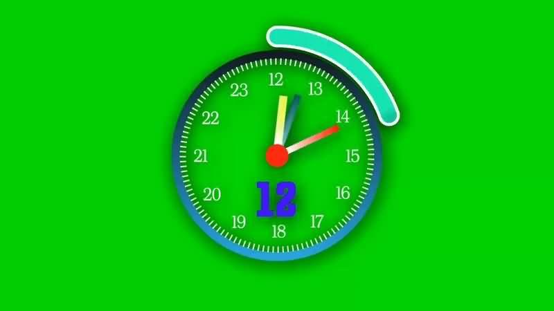 绿幕视频素材表盘