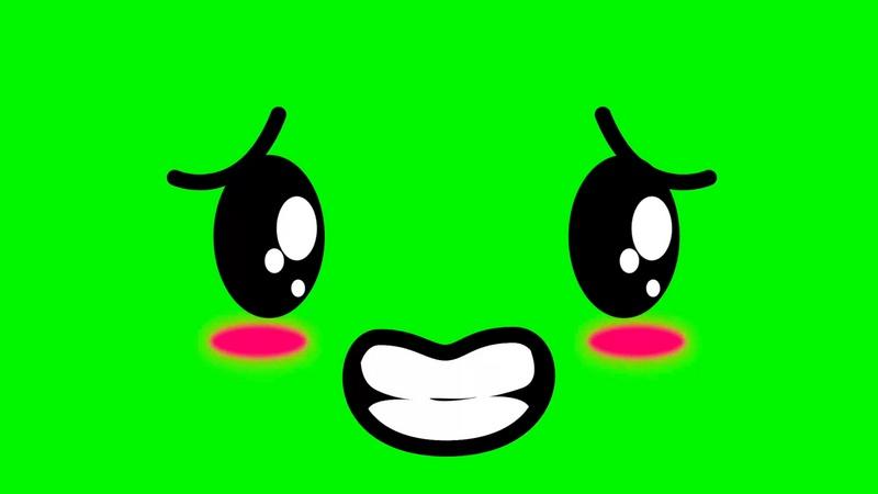 绿幕视频素材尴尬表情