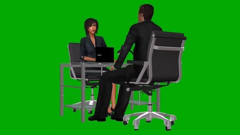 绿幕视频素材公司职员
