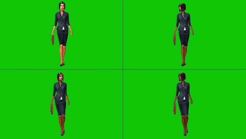 绿幕视频素材职场女性