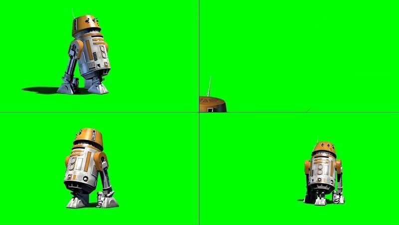 绿幕视频素材R5-A2机器人