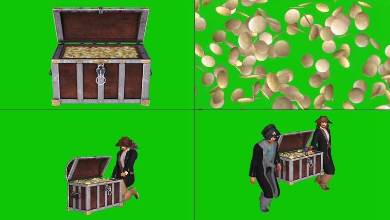 绿幕视频素材金币宝箱.jpg