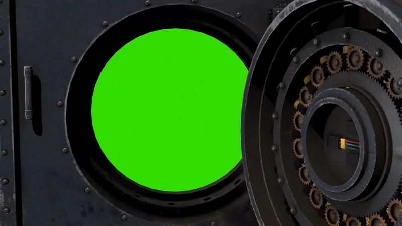 绿幕视频素材银行金库