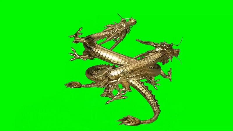 绿幕视频素材中国龙