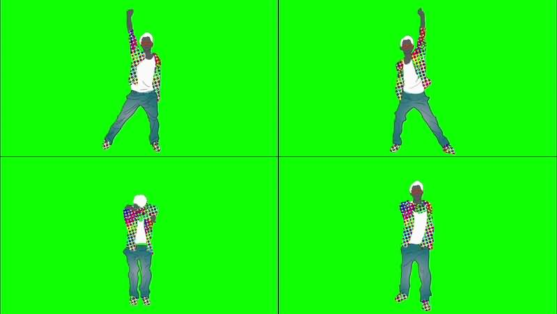 绿幕视频素材街舞