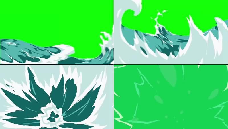 绿幕视频素材海水