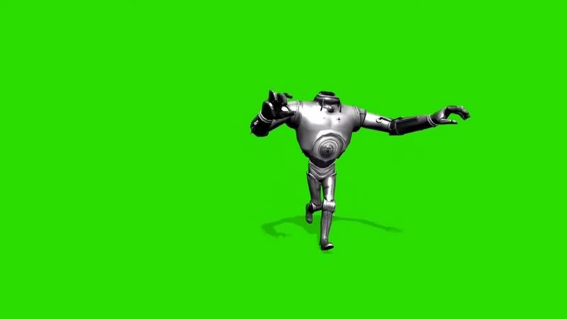 绿幕视频素材机器人