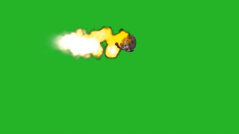 绿幕视频素材坠落的陨石