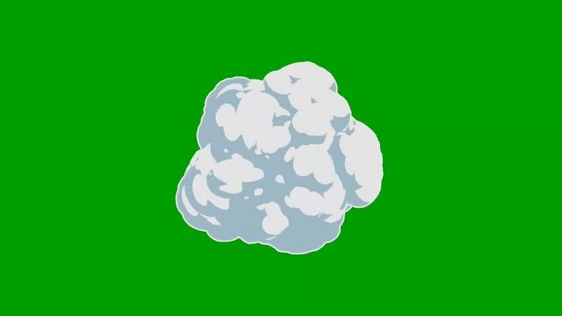 绿幕视频素材白烟
