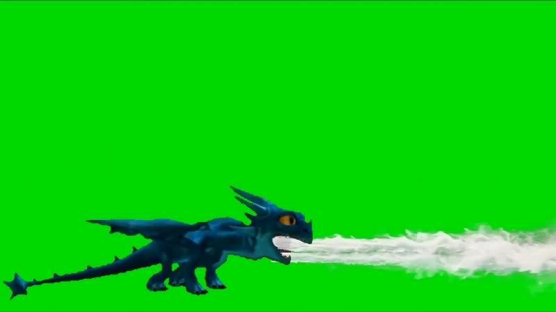 绿幕视频素材恶龙