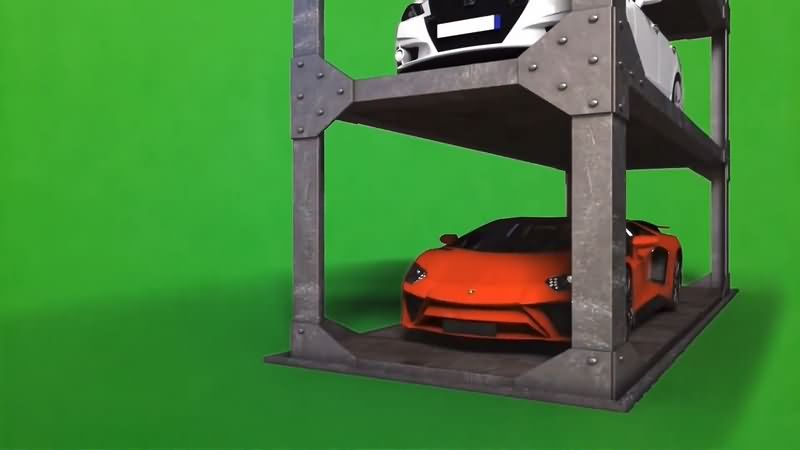 绿幕视频素材自动车库