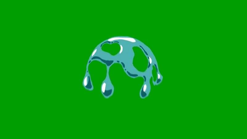 绿幕视频素材水滴