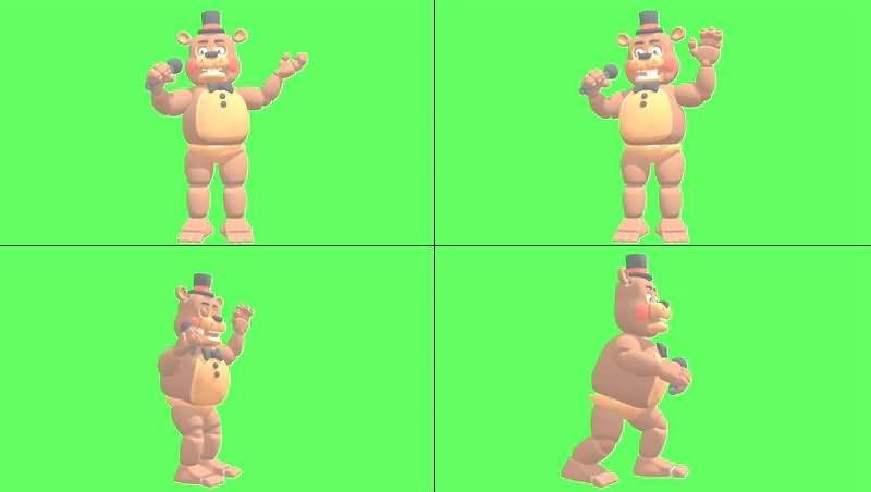 绿幕视频素材FNAF玩具熊