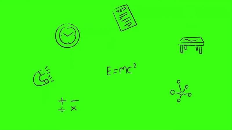 绿幕视频素材课堂符号