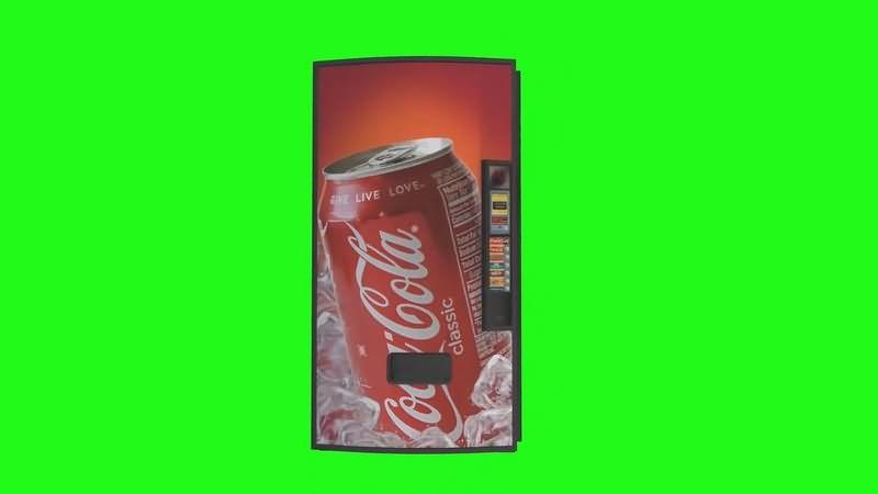 绿幕视频素材自动售货机