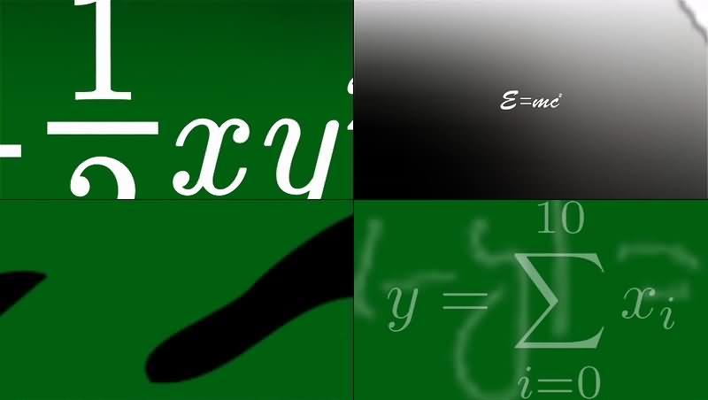 绿幕视频素材数学符号
