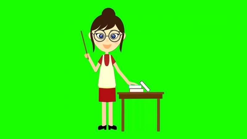 绿幕视频素材老师
