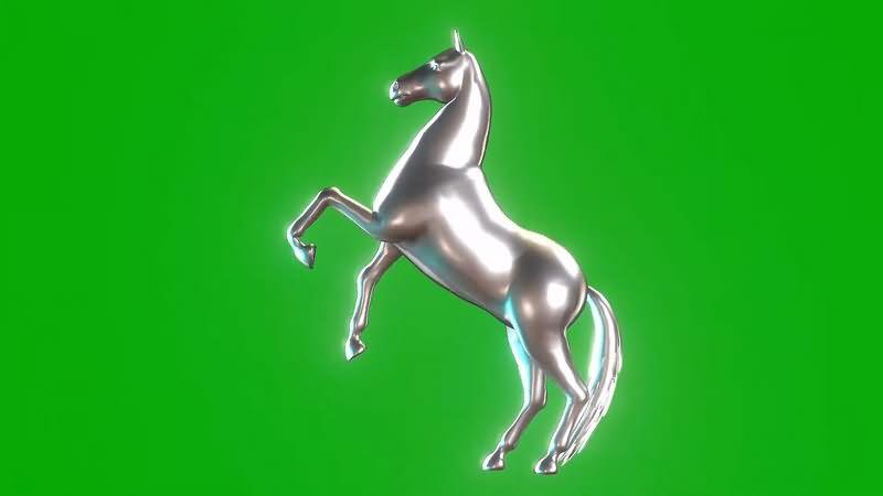 绿幕视频素材银马