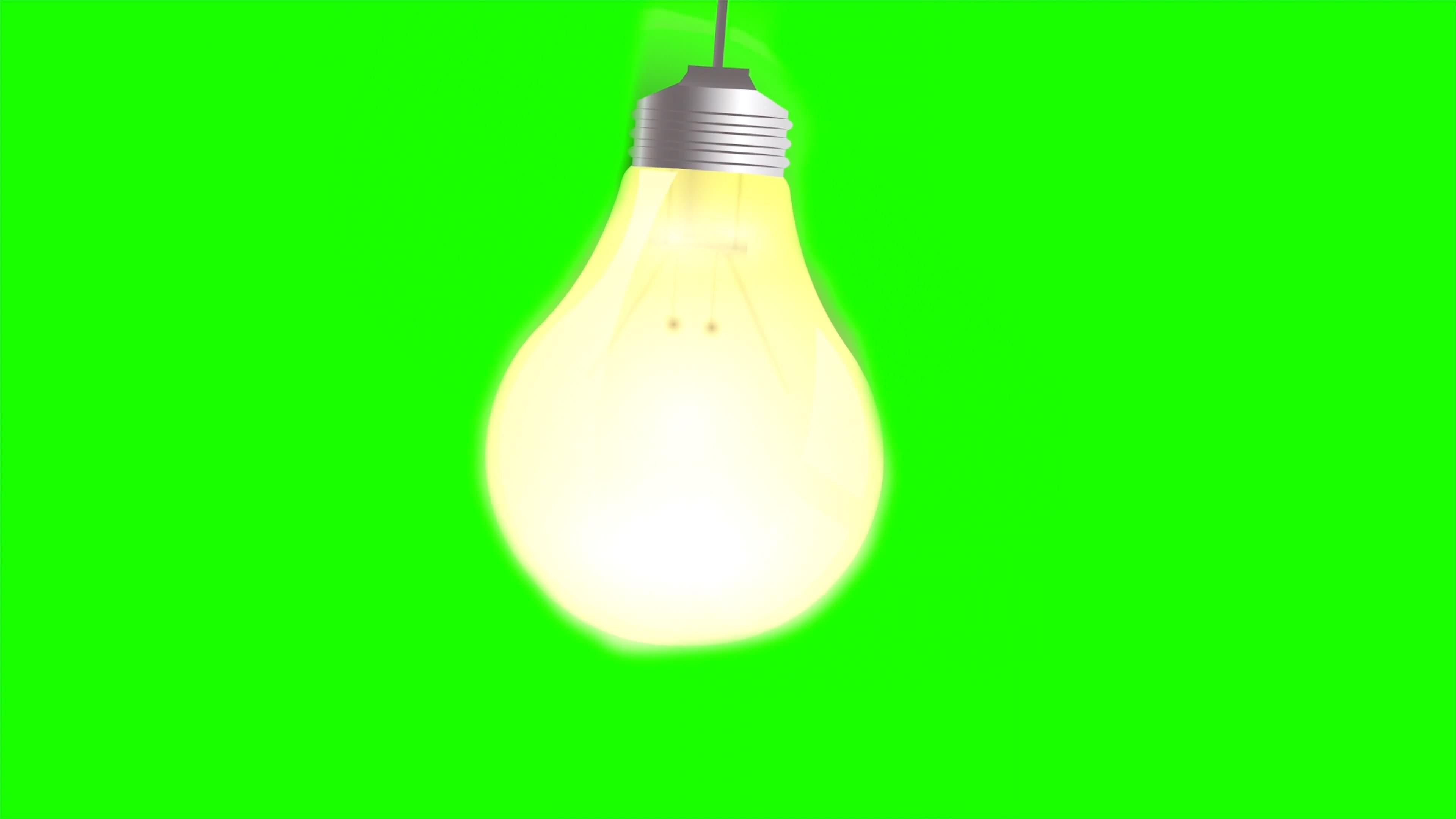 绿幕视频素材电灯泡