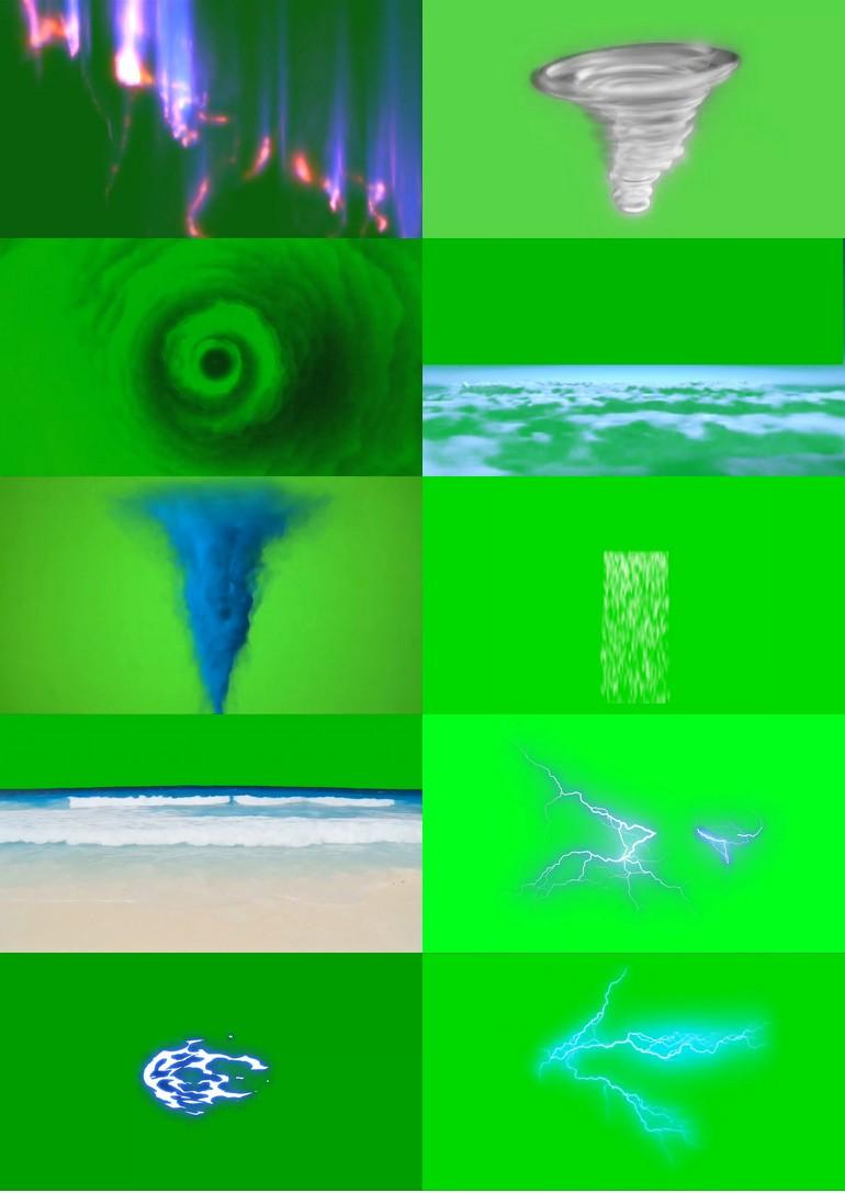绿屏_绿布_绿幕自然风景|下雨|下雪|白云|闪电|宇宙|星球视频素材打包100部第三套