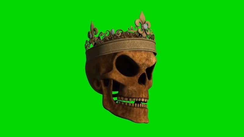 绿幕视频素材骷髅皇冠