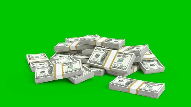 绿幕视频素材美元
