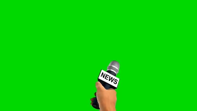 绿幕视频素材采访麦克风