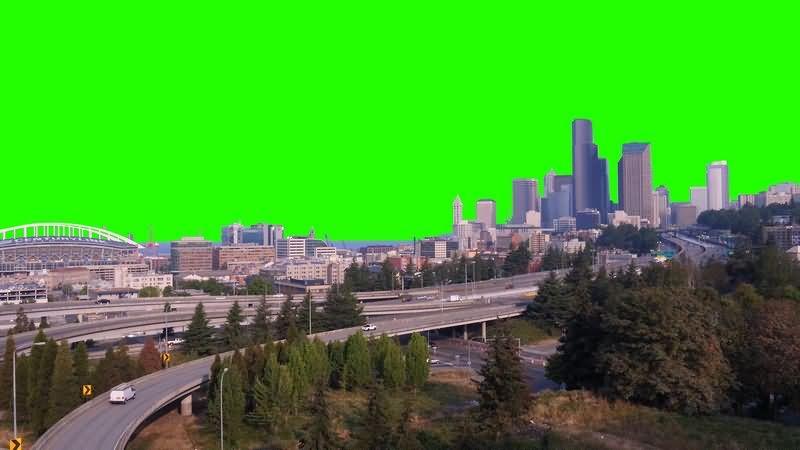 绿幕视频素材城市