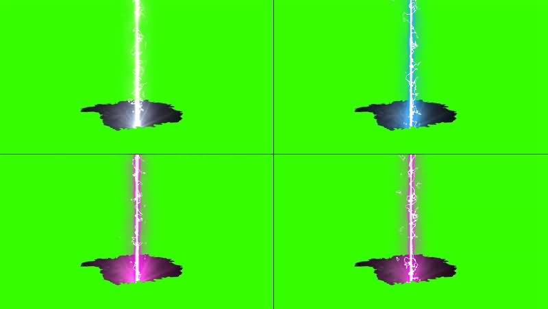 绿幕视频素材地陷能量波