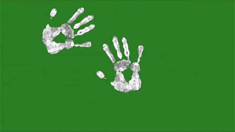 绿幕视频素材手印
