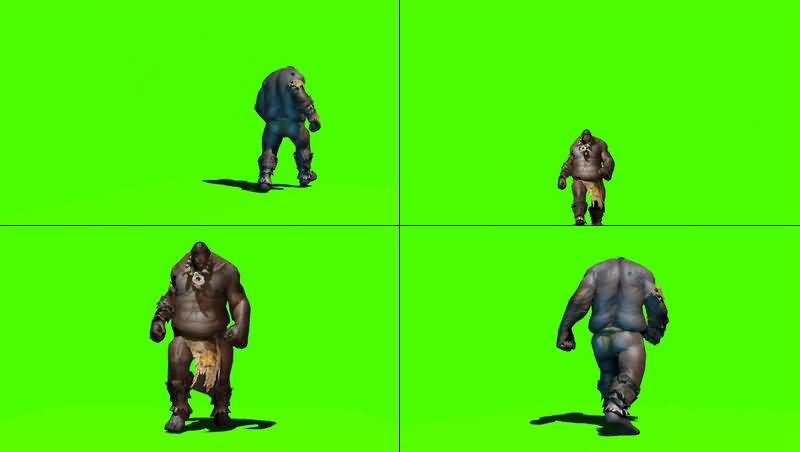 绿幕视频素材食人魔