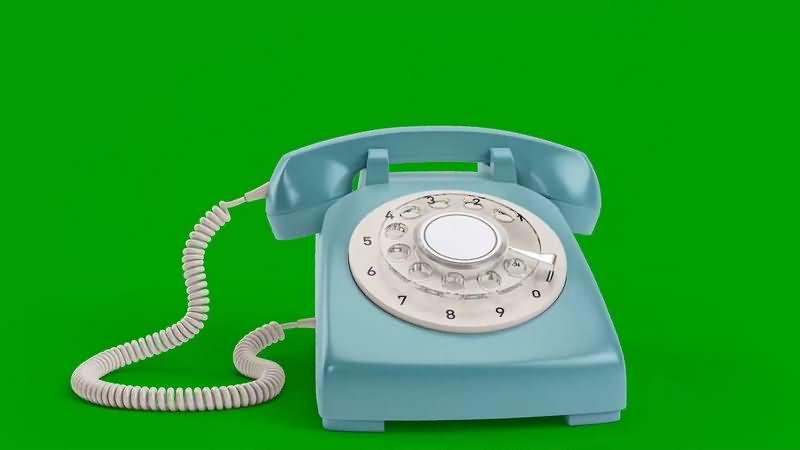 绿幕视频素材老式电话