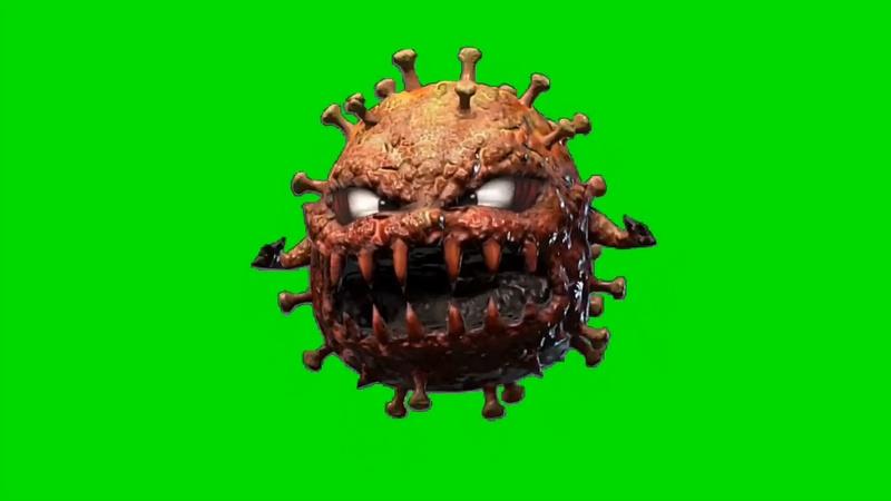 绿幕视频素材细菌病毒