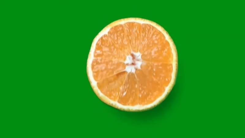 绿幕视频素材橙子