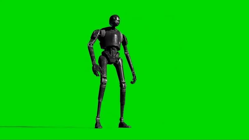 绿幕视频素材K-2S0机器人
